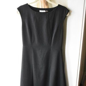 Calvin Klein Fit and Flare Black Dress